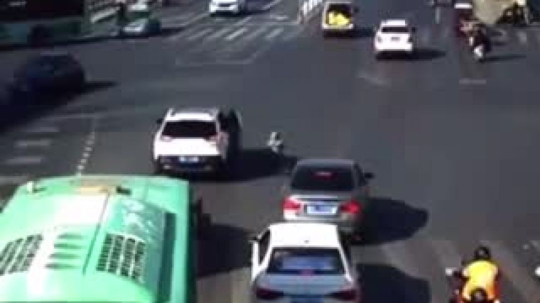 Kid Fall From Car On The Road