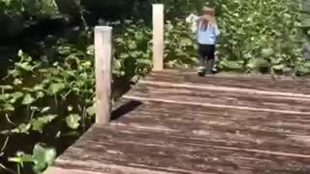 Daughter Pranking Mother Into Swimming In The Lake