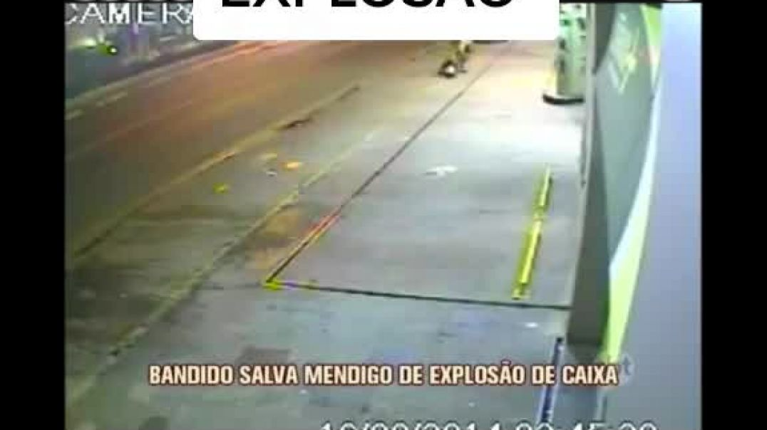 Robber Saves A Man From An Explosion