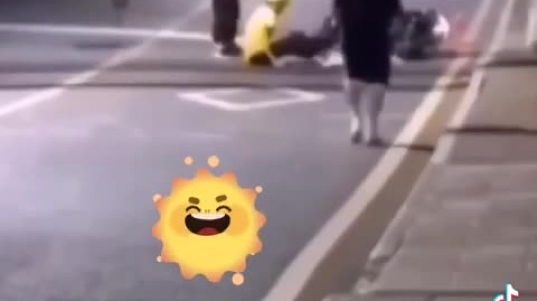Motorcycle Had An Accident Because Of A Ball