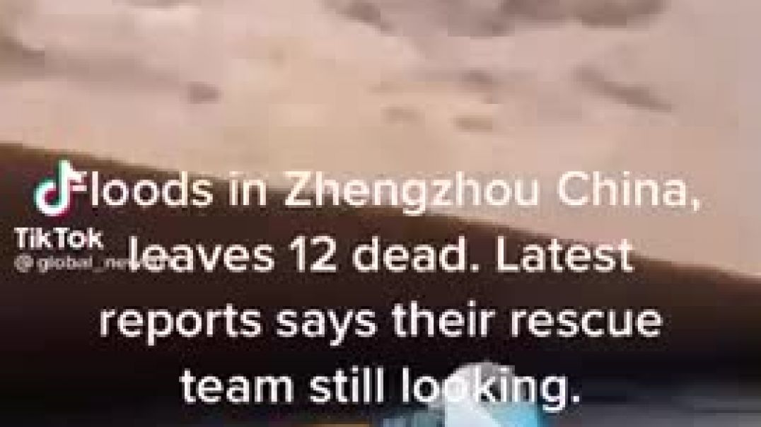 Big Flood Caught On Camera In China