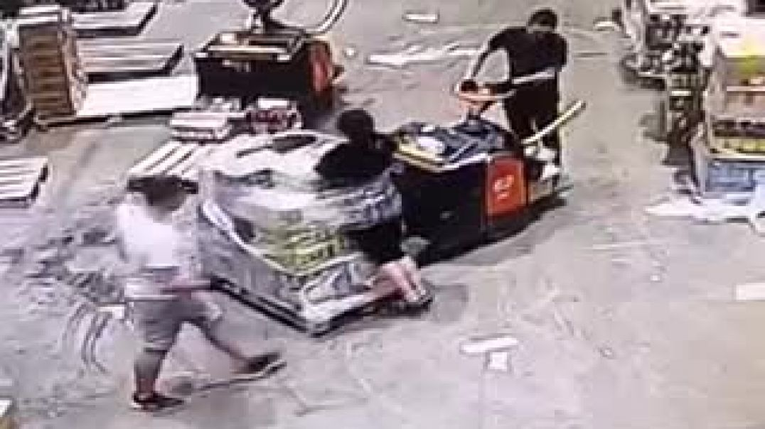 Woman Got Wrapped By Colleague